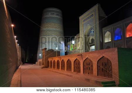 Medieval Mosque in the city of Khiva Uzbekistan