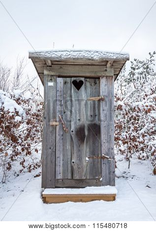 Outhouse in Snow