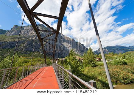 Bridge Over Sarca River - Trentino Italy