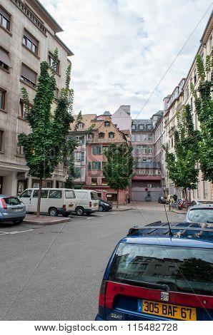 Street In The Calm City Of Strasbourg
