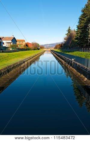 Irrigation Canal In Verona Italy