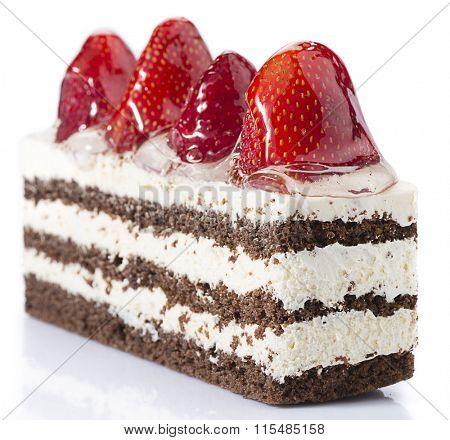 Strawberry Cake Isolated