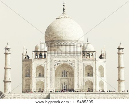 Taj Mahal in India, Agra, Uttar Pradesh, Asia