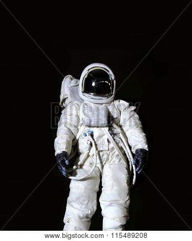 Astronaut Against A Black Background