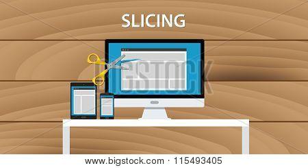 web website slicing process development application html design