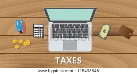 tax taxes manage budget and document use money calculator