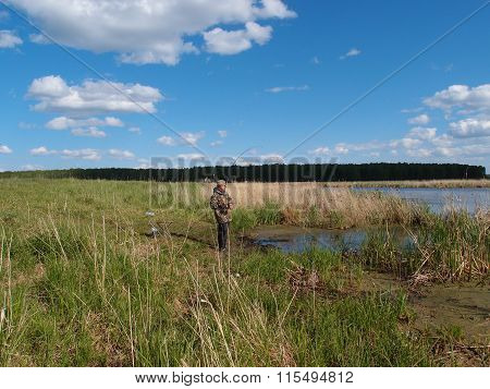 Fishing On The River Yaman, Omsk Region, Russia