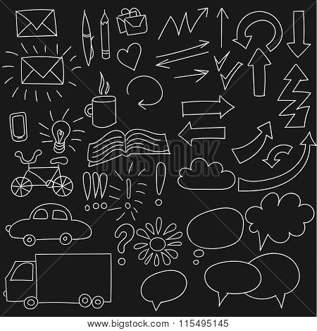 Collection Of Doodle Infographics Elements