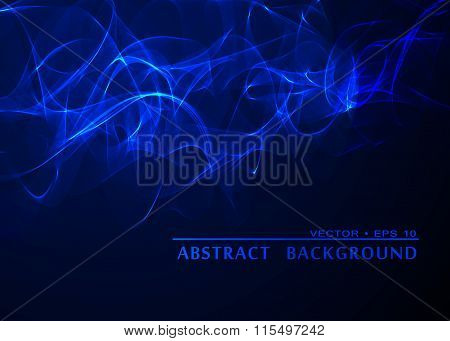 Abstract Smoke Wavy Blue Background