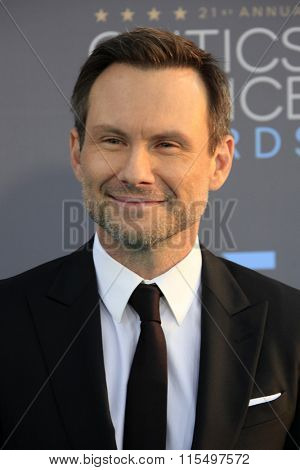 LOS ANGELES - JAN 17:  Christian Slater at the 21st Annual Critics Choice Awards at the Barker Hanger on January 17, 2016 in Santa Monica, CA