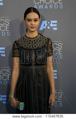 LOS ANGELES - JAN 17:  Courtney Eaton at the 21st Annual Critics Choice Awards at the Barker Hanger on January 17, 2016 in Santa Monica, CA