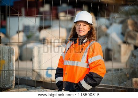 Senior woman engineer portrait