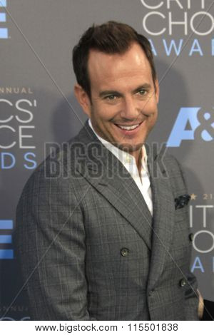 LOS ANGELES - JAN 17:  Will Arnett at the 21st Annual Critics Choice Awards at the Barker Hanger on January 17, 2016 in Santa Monica, CA