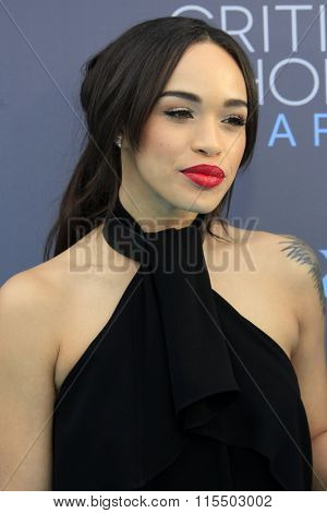LOS ANGELES - JAN 17:  Cleopatra Coleman at the 21st Annual Critics Choice Awards at the Barker Hanger on January 17, 2016 in Santa Monica, CA