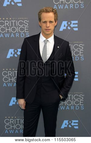 LOS ANGELES - JAN 17:  Chris Geere at the 21st Annual Critics Choice Awards at the Barker Hanger on January 17, 2016 in Santa Monica, CA
