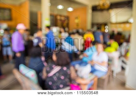 Image Of Abstract Blurred Coffee Shop Background