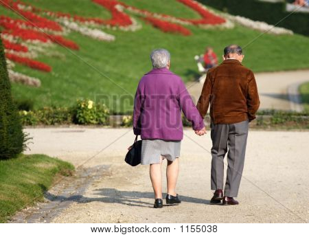 Senior Couple In A Park