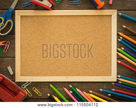 Cork Board And Stationery