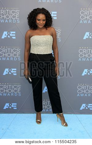 LOS ANGELES - JAN 17:  Shanice Williams at the 21st Annual Critics Choice Awards at the Barker Hanger on January 17, 2016 in Santa Monica, CA