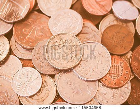 Uk Pound Coin Vintage