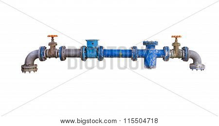 Pipes And Heating System On White Isolate Background With Clipping Path.