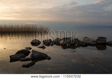 Lake Iznik at sunset