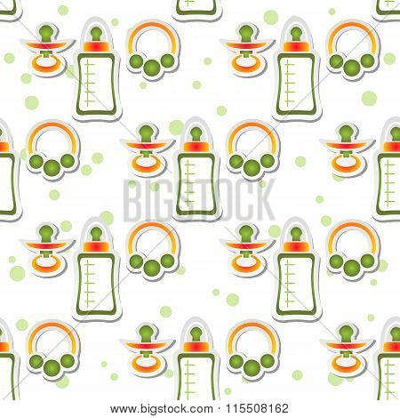 baby care seamless pattern