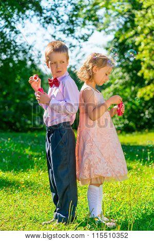 Children And Soap Bubbles