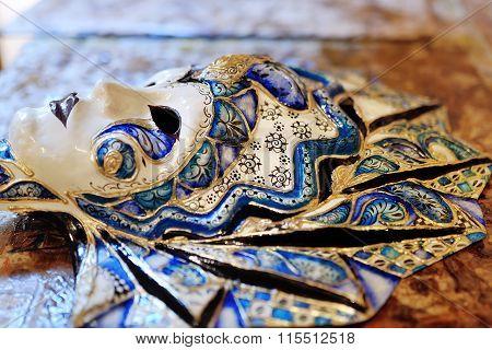 Beautiful Colorful Venetian Carnival Mask