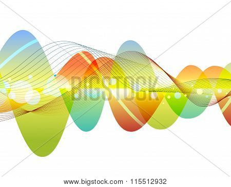 Abstract colorful wave illustration design
