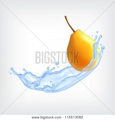 Pear with water