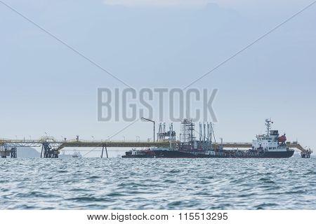 Oil Tanker In The Sea