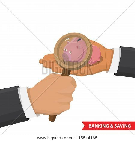 banking and saving concept