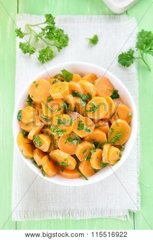 Carrot Salad, Top View