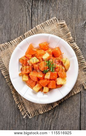Stewed Pumpkin And Potato