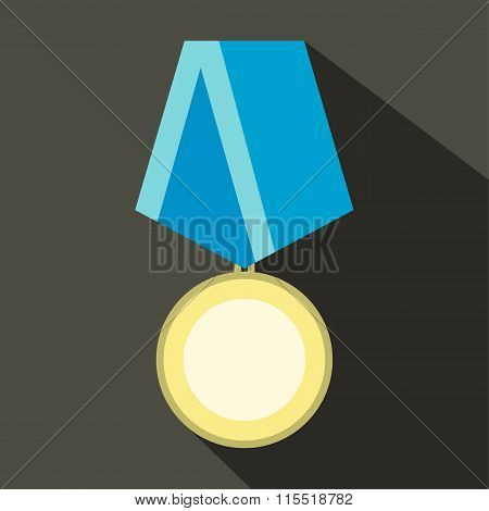Medal military flat icon