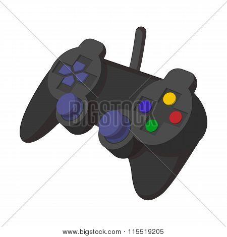 Console joystick cartoon icon