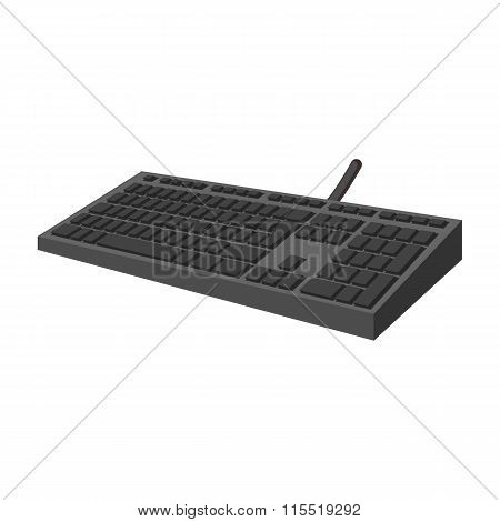 Black keyboard cartoon icon