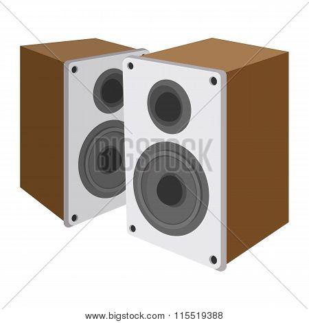 Acoustic speakers cartoon icon