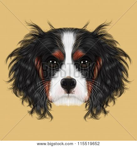 Illustrated Portrait Of Dog.