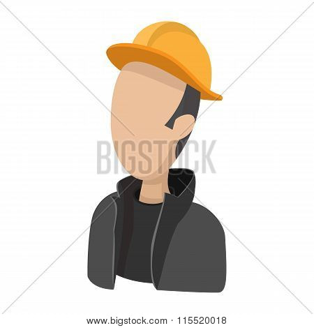 Oilman cartoon icon