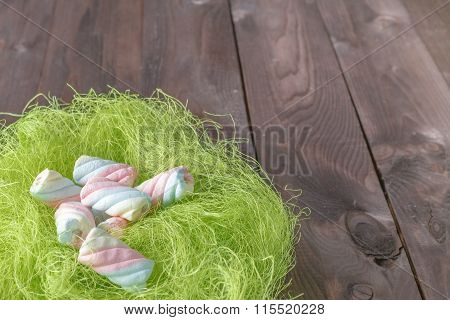 Sweets Twisted Marshmallow In Bird Nest