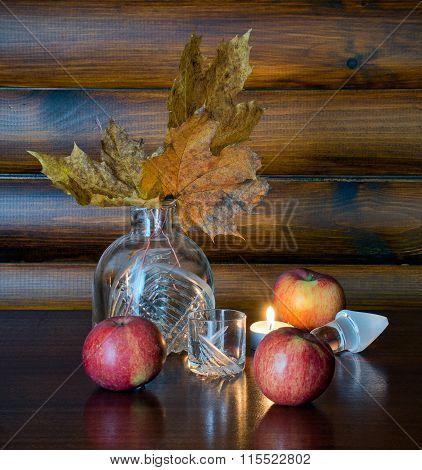Autumn Still Life With Apples