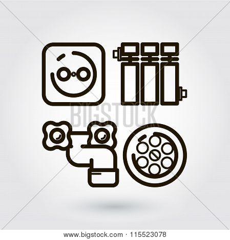 Vector icon engineering communication