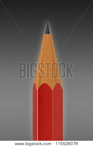 Pencil. Image with clipping path.
