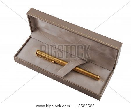 Golden Pen In Box