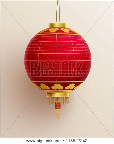 china lantern realistic object eps 10