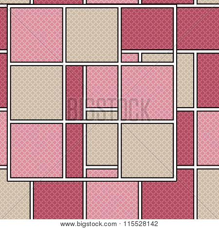 Seamless Retro Geometrical Texture Pattern Background