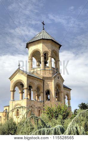 view of Holy Trinity Cathedral (Tsminda Sameba). Tbilisi, Georgia