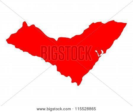 Map Of Alagoas